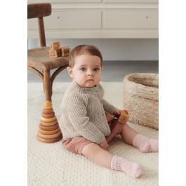 Strick-Set Sandnes Garn Charlie Jacke Mandarin Petit 2106 Gr. 9 Monate - 1 Jahr