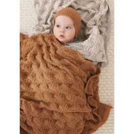 Strick-Set Sandnes Garn Colette Baby Decke Mandarin Petit 2106