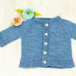 Strick-Set Einfache Babyjacke Sisu Gr. 6-12 Monate