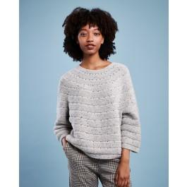 Strick-Set LAMANA Pullover #10/09 Gr. L/XL Como Tweed