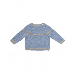 Strick-Set LAMANA Baby Pulli #09/02 Gr. 74 aus Como Tweed