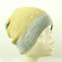 Strick-Set Zweifarbige Mütze Como