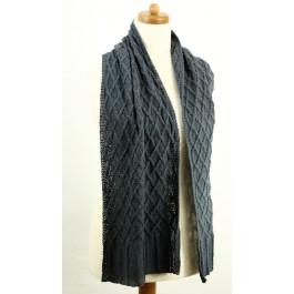 Strick-Set Schal mit Rautenmuster Soft Silk BC Garn
