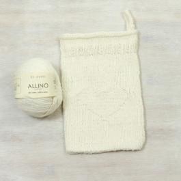 Strick-Set Waschhandschuh mit Herz Allino