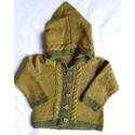 Strick-Set Babyjacke mit Kapuze Babyalpaca Gr. 6-24 Monate