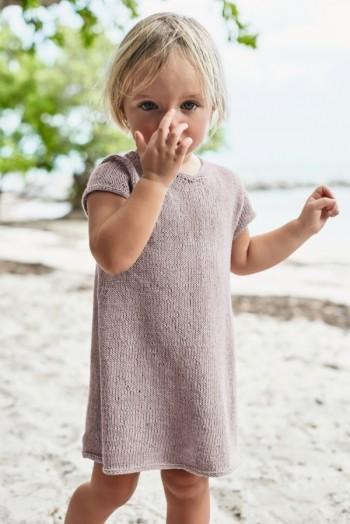 Strick-Set Sandnes Kinderkleid Gr. für 7-8 Jahre