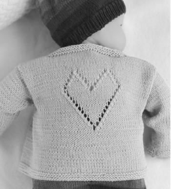 Babyjäckchen mit Herz 1