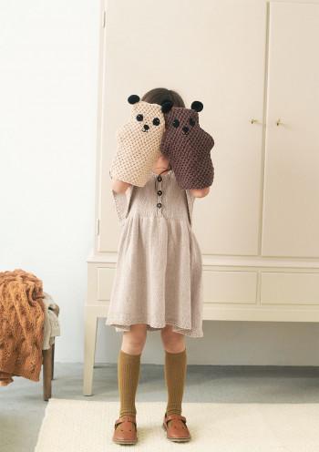 Strick-Set Sandnes Garn Teddy Waschhandschuh Mandarin Petit 2106