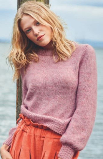 Strick-Set Sandnes Basic Pullover Tynn Line Tynn Silk Mohair