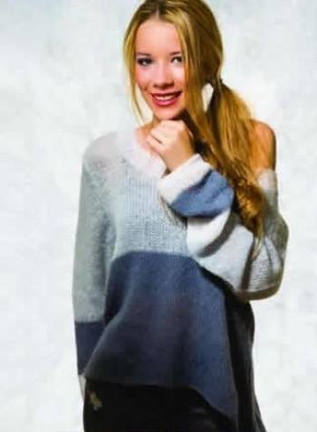 Strick-Set Pullover dreifarbig Gr. S - L