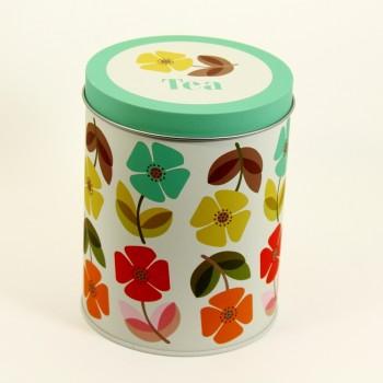 Dekodose mit Sockengarn Tea Blumen grün