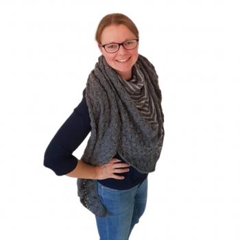 Strick-Set gestreiftes Lace-Tuch aus der Milano von LAMANA