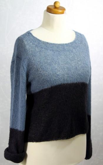 Strick-Set Pullover Varinate: zweifarbig Gr. S-L