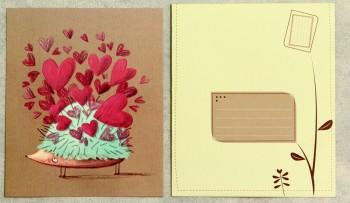 Grußkarte mit Umschlag Igel