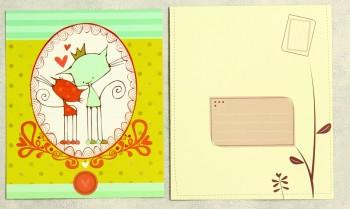 Grußkarte mit Umschlag zwei Katzen