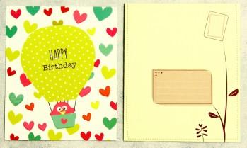 Grußkarte mit Umschlag Happy Birthday