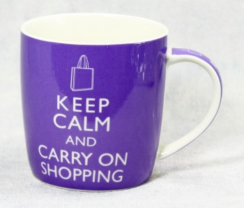 Becher Keep calm and carry on shopping
