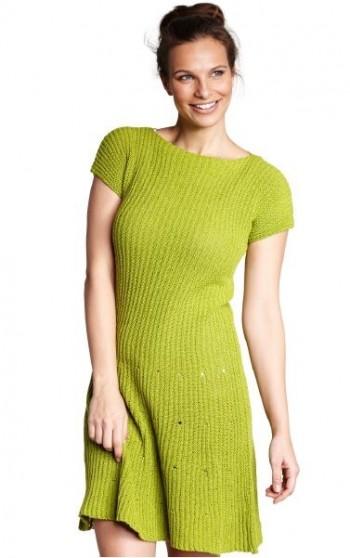 Strick-Anleitung Kleid mit verkürzten Reihen Allino BC Garn