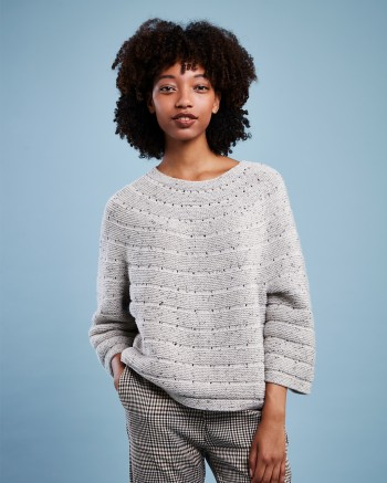 Strick-Set LAMANA Pullover #10/09 Gr. S/M Como Tweed
