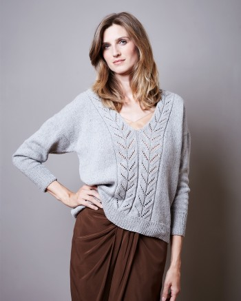 Strick-Set LAMANA Pullover #20/09 Gr. L Como Tweed