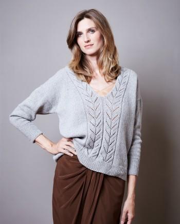 Strick-Set LAMANA Pullover #20/09 Gr. XL Como Tweed
