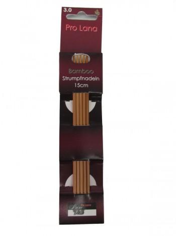 Pro Lana Bamboo Strumpfnadeln 15cm 3,0mm