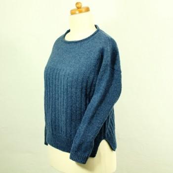 Strick-Set Pullover mit Längsstreifen Semilla Melange Gr. M/L