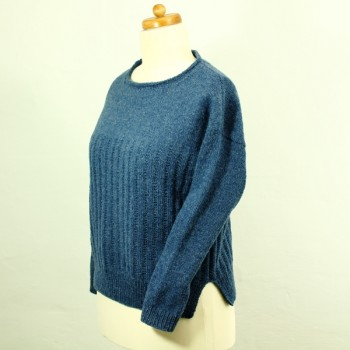 Strick-Set Pullover mit Längsstreifen Semilla Melange Gr. XL