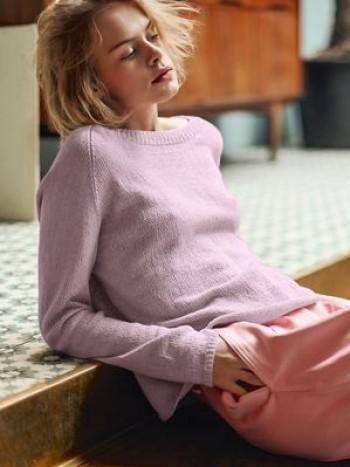 Strick-Set Sandnes Raglan-Pullover 1805 Gr. L