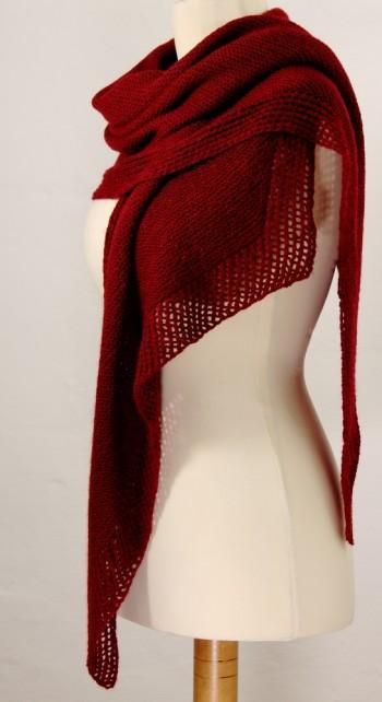 Strick-Set Schal mit Lacekante Camino 1