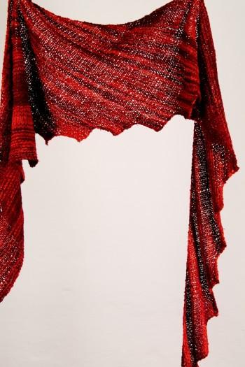 Strick-Set Wellentuch mit Zacken Soft Silk 1