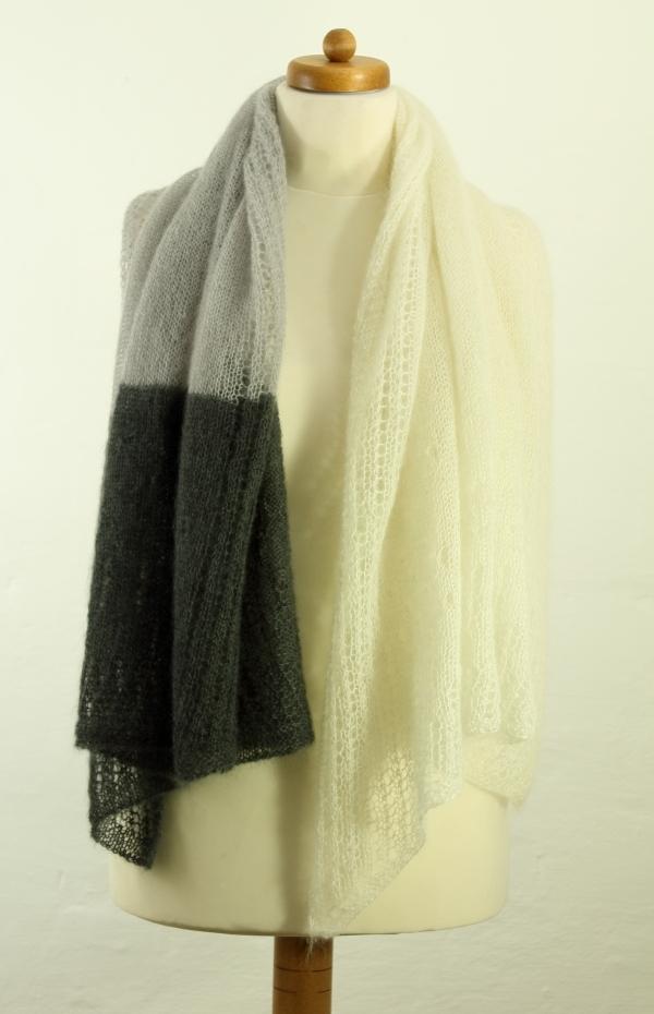 Schal aus der Wolle Silky Kid
