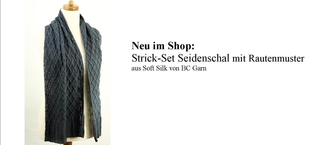 Neuer Seidenschal Soft Silk BC Garn